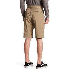 Volcom VMonty Men's Stretch Chino Shorts Khaki/Tan